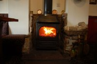 Great log burner during the cold months
