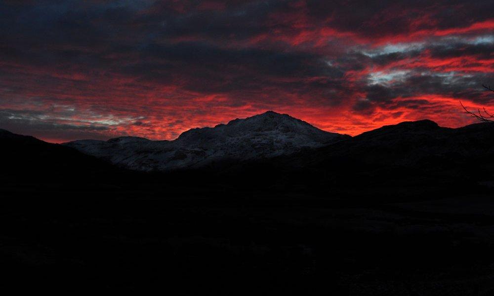 Sunrise in winter